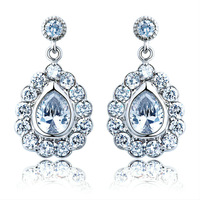 2013 Accessories Swiss CZ Diamond Tear Drop Earrings Made With Swarovski Diamond CZ (000103) Fashion Crystal Jewelry For Women