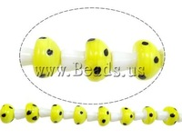 Free shipping!!!Handmade Lampwork Beads,Trendy, mushroom, yellow, 19x16x16mm, Hole:Approx 2-3mm, 20PCs/Strand