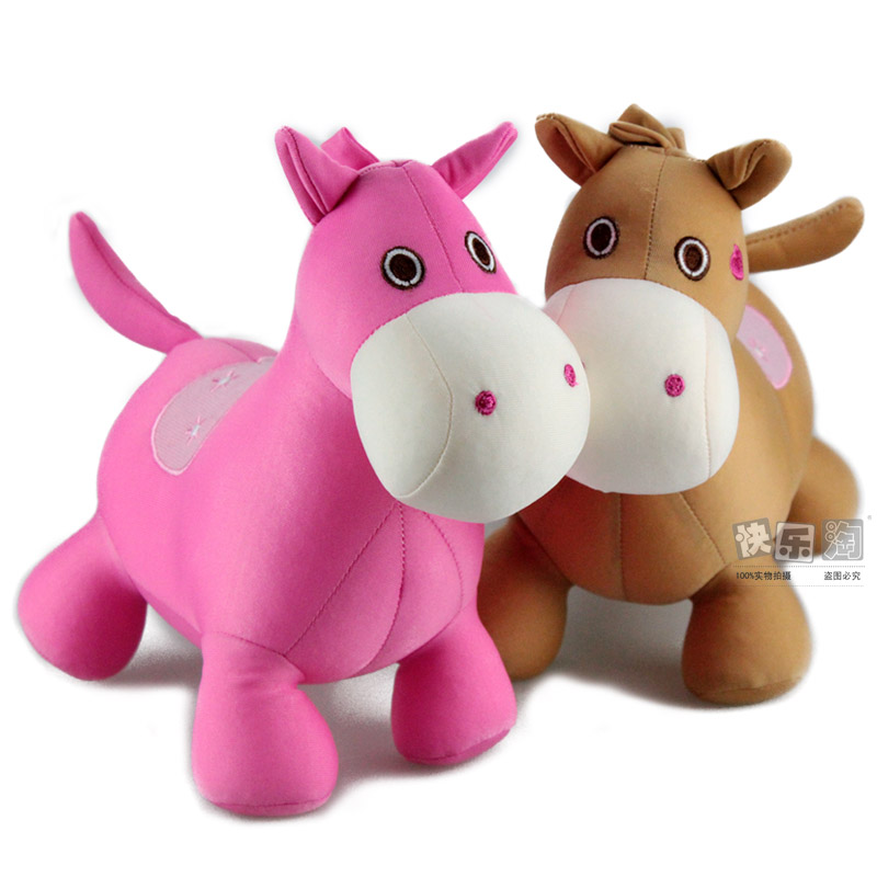 Lovely horse foam particle toys nano particles doll pillow birthday gift Large(China (Mainland))