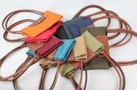 Waterproof nylon fabric zipper buckle PU short handbag dumplings bag folding multicolor
