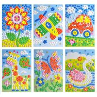 Eva child sticker handmade diy 3d three-dimensional cartoon stickers diamond mosaic 12