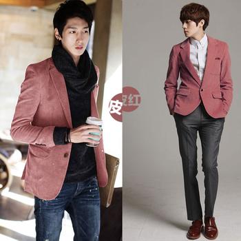 Beli Spring Autumn Korea Style Pria Fashion Gugatan Collar Corduroy Patchwork