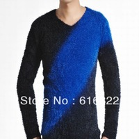 2013 New fashion v-neck men mohair men's sweaters 2111