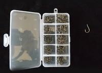 500pcs 10 size 3--12# black nicke carp  fishing hook  wide mouth hook  free shipping