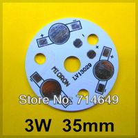 20pcs/lot, 3W LED PCB, 35mm for 3pcs LEDs, LED radiating  plate, Aluminum PCB, Printed Circuit Boards, high power 3W PCB