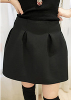 Free Shipping new ladies' autumn winter fashion all-match black bust skirt short skirt(Black+free)131204#26