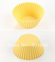 wholesale 240pcs silicone cupcake moulds cake mould 6.5x4x3cm