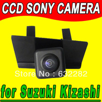 Top Quality CCD Wire (Wireless Optional) Waterproof Rear View Parking Security Reversing NTSC Camera fit for Suzuki Kizashi 2011