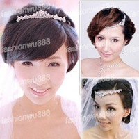 New Women's Elegant Bridal Rhinestone Crystal Prom Wedding Party Tiaras Hair Sticker Free Shipping 1pcs/lot