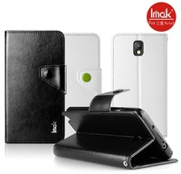 IMAK Brand Magnetic Closure pu Leather Wallet Case For Samsung Galaxy Note 3 Note3, with retail box, 50pcs/l wholesale DHL Free