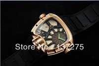 Brand New 2013 Luxury Mens Automatic Watch + Box Mechanical brand Digital movement watches For Mens Luxury wrist watch