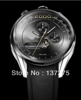 2000 popular sports men mechanical black rubber luxury watches