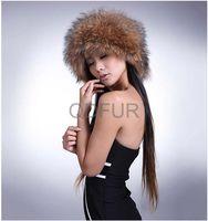 Genuine Racoon  Fur Winter Fashion  Cap Flat-top Cap in Stock  QD29540  Hot Sell