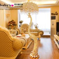 Luxury peacock crystal floor lamp fashion decoration lighting lamps