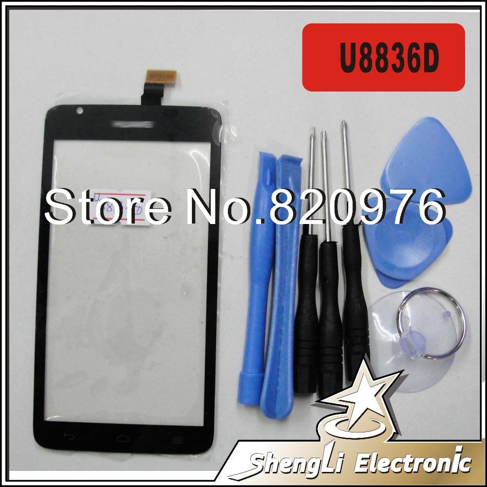 10pcs/lot Wholesale Original Touchscreen Touch Screen Digitizer Glass Replacement Huawei G500 Pro Shine U8836D+Free Shipping(China (Mainland))
