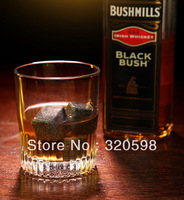 Free Shipping 100sets(1set=9pcs) Whisky Cold Stones Sipping Ice Stones Whiskey Rocks Retail Box Packing