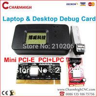 Free shipping, 4 in 1 PCI / Mini PCI / Mini PCI-E / LPC Desktop Laptop Notebook PC Motherboard Analyzer Diagnostic Debug card