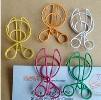 White collar supplies student stationery clip paper clip small scissors