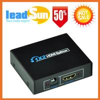 1x2 HDMI Splitter 1 IN 2 OUT HDMI Amplifier Splitter Support 3D