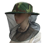 camping fishing mosquito bee bug insect fly face head mask hat cap