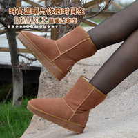 Hot-selling 5825 classic knee-high snow boots solid color waterproof cow muscle slip-resistant outsole