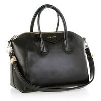 New 2013 High Quality Fashion Famous Brand Black Women Leather Handbag Given Bag