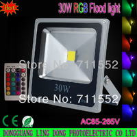 New type 4pcs/lot LED Floodlights 30W RGB LED Flood Light Warm / Cool white / RGB Remote Control outdoor spotlight 85-265V
