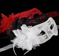 2013 New Hot Sale Style  Ball Lace Hollow Flower Eye Dress Masks