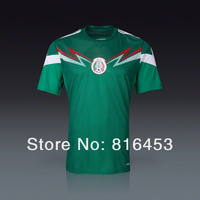 new arrival !!!  Mexico  Home 2014  Green  Thailand quality  soccer  jersey     Free shipping