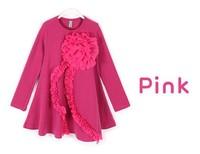 Children's clothing three color flower mini children's garments AQZ027