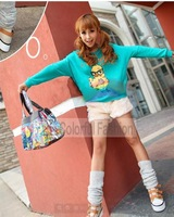 Fashion Solid Flocky Rabbit Tail Elastic Waist Imitation Angora Fur Women Shorts