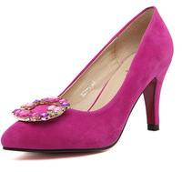 free shipping 2014 women's pumps women's pointed toe pump rhinestone women's wedding shoes sapatos for women SA0572