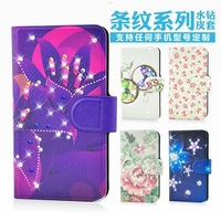 Holster leather flip Bling diamond Lovely lip flower grass natural protective cover case for SONY Xperia Go ST27i