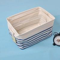 The Mediterranean-style home storage basket Storage Bag cotton striped storage baskets finishing boxes waterproof storage box