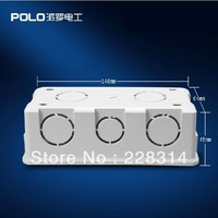 Free Shipping, Polo Wall Switch Bottom Socket, Universal Switch White Back Box for 154*72mm switch and socket