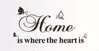 Free shipping ,marilyn monroe english letter wall decals, home is where the heart is,decorative wall sticker, wallpaper