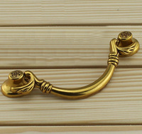 Hanging handle European copper furnitrue handle antique european-style handle cupboard knob drawer handle