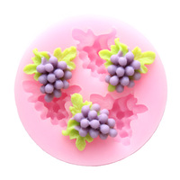3D grape chocolate soap sugar silica gel cake decoration cookie  baking silicone mould Baking & Pastry Tools