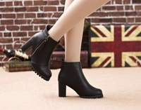 2013 women's autumn shoes female boots martin boots zipper boots thick heel boots platform high-heeled boots