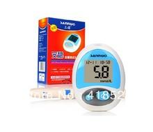 New Secure Glucose Meter Glucometer Monitoring Blood Sugar lancets 50pcs test strips 1028