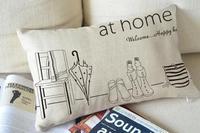"Kim Store! at home Throw Pillow for Sofa,Car Seat Cushion, Decorative Pillows Lumbar Pad 11""*19"" (only cover)"