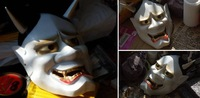 Free shipping New Resin Replica Vintage Japanese Buddhist Evil Oni Noh Hannya Mask COOL High quality