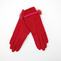 Quality women's gloves autumn and winter Women thermal gloves exquisite gift