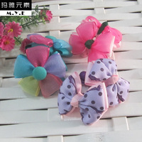 Handmade diy child baby hair pin girl bow hair accessory hairpin lace accessories