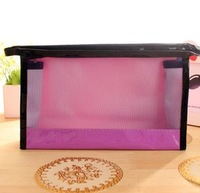New arrival Korea style candy color PVC cute cosmetic bags  transparent makeup case
