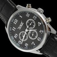 Jaragar White Automatic Watch Men 6 Hands Week/Date/24H Mechanical Leather Watches Wrist watch Free Ship Box