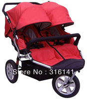 Amazing New Brand Babyboom Twin Stroller Inflatable Wheel Shock Twins Baby Stroller Big Wheel Optional Color N6770T
