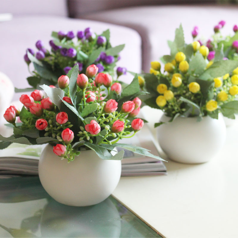 Brief fashion small bud artificial flower decoration flower shop / restaurant/ office / house / hallwy / school / wedding flower(China (Mainland))