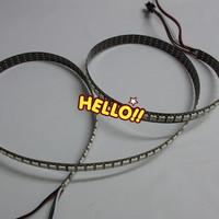 1M 5050 RGB 144 Pixel WS2812B Chip Black PCB WS2811 Digital RGB LED Strip Light DC5V & Mini Controller