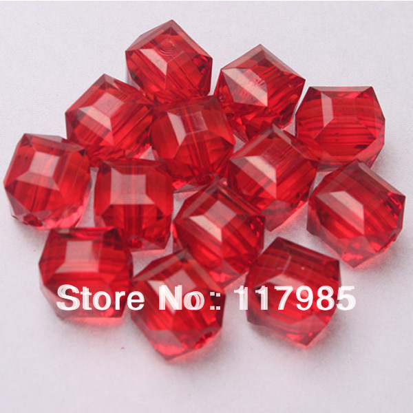 Free shipping Chunky Beads,Acrylic Red Color Cube beads,,20mm,150pcs/lot for jewelry making(China (Mainland))